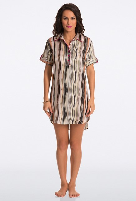 Pretty Secrets Multicolor Printed Sleep Shirt
