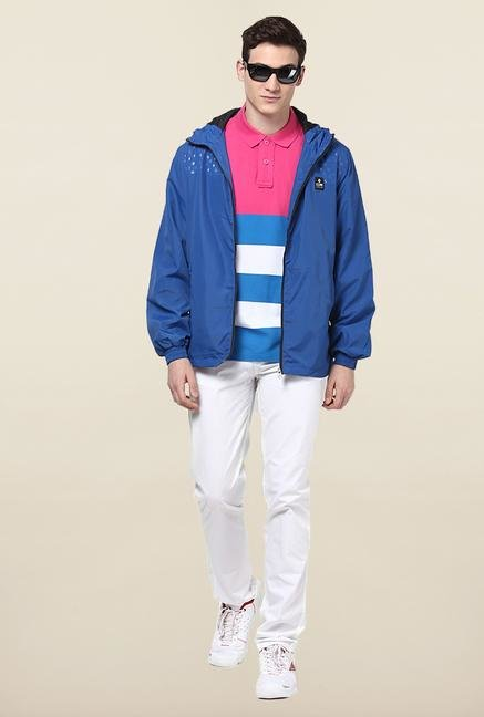 Jack & Jones Blue Hooded Jacket