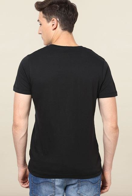 Jack & Jones Black Round Neck T-Shirt