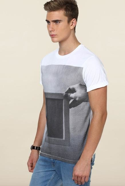 Jack & Jones White Crew Neck Cotton T-Shirt