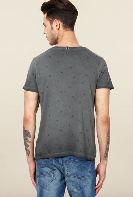Jack & Jones Grey Round Neck T-Shirt