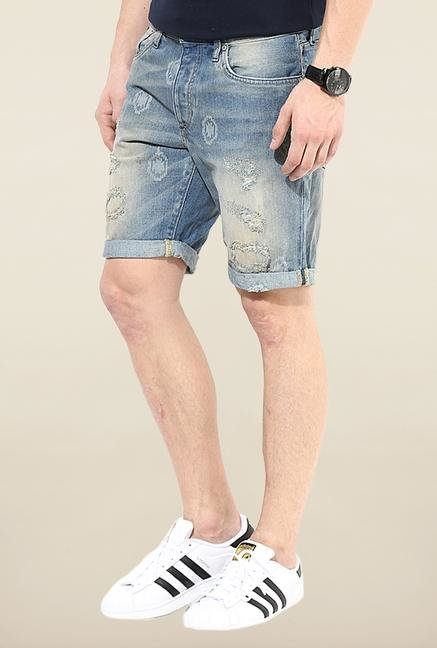 Jack & Jones Blue Cotton Shorts