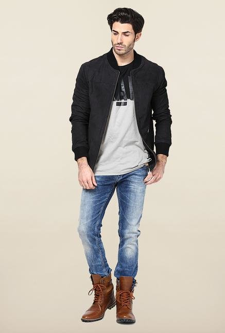 Jack & Jones Black Leather Jacket