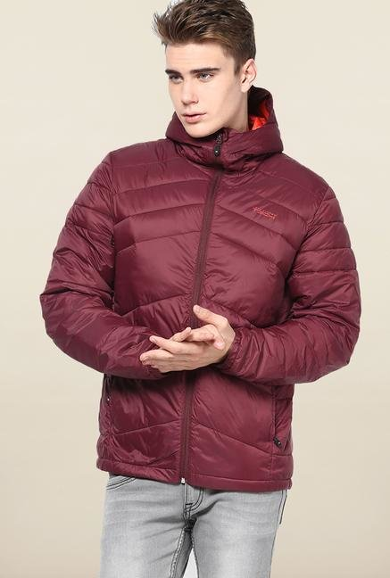 Jack & Jones Maroon Hooded Jacket