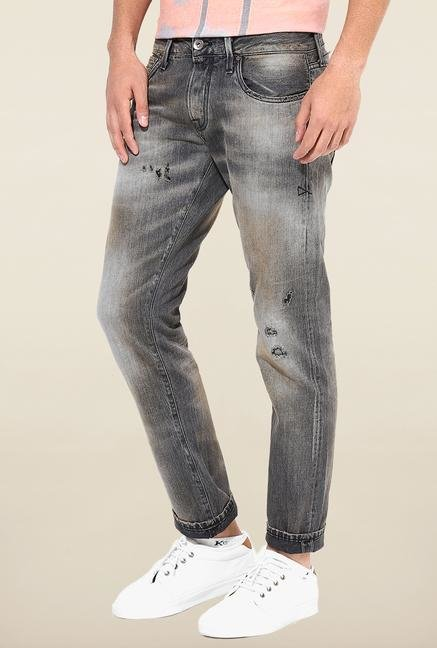 Jack & Jones Black Distressed Jeans