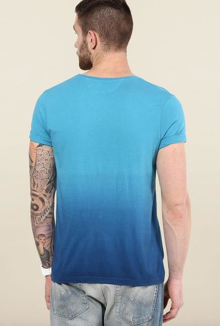 Jack & Jones Blue Ombre Round Neck T-Shirt
