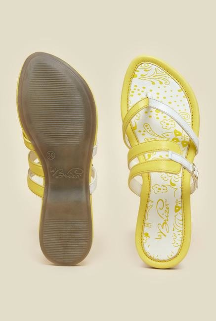 La Briza Yellow Flat Sandals