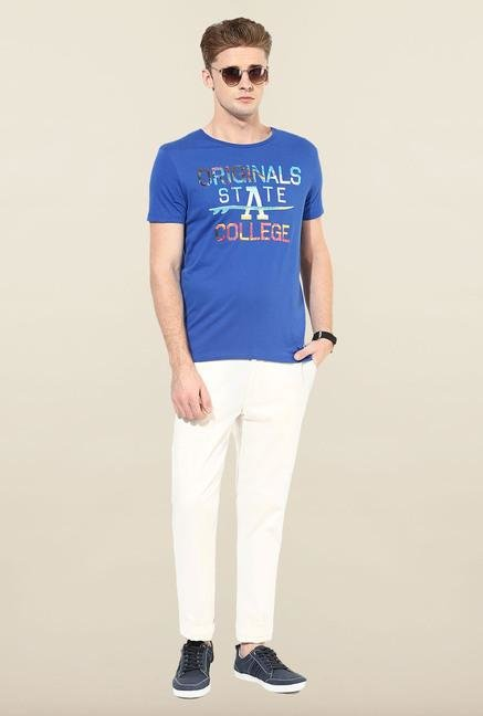 Jack & Jones Blue Round Neck T-Shirt