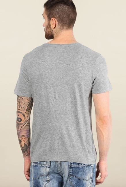 Jack & Jones Light Grey Round Neck T-Shirt