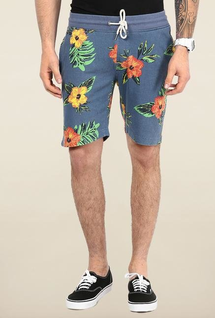 Jack & Jones Blue Floral Printed Shorts