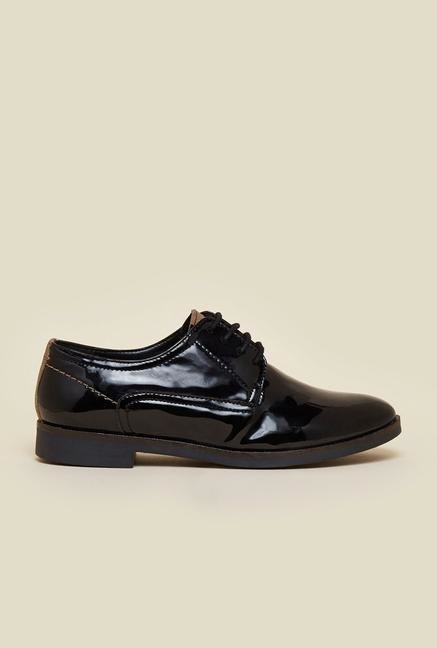 La Briza Black Leather Formal Shoes