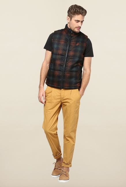 Jack & Jones Tan Solid Chinos