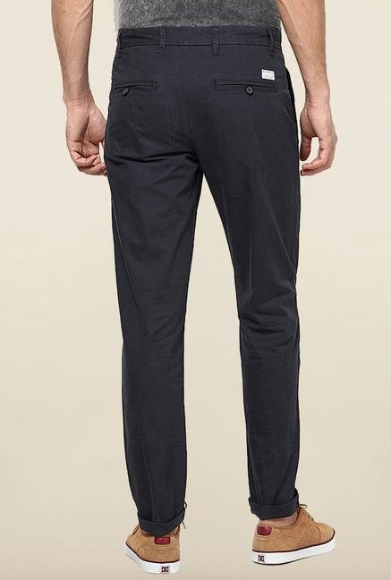 Jack & Jones Dark Navy Pleated Chinos