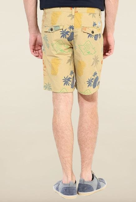 Jack & Jones Beige Printed Shorts