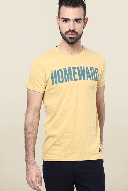 Jack & Jones Yellow Crew Neck T-Shirt