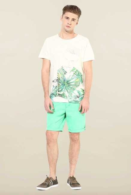 Jack & Jones Turquoise Solid Shorts