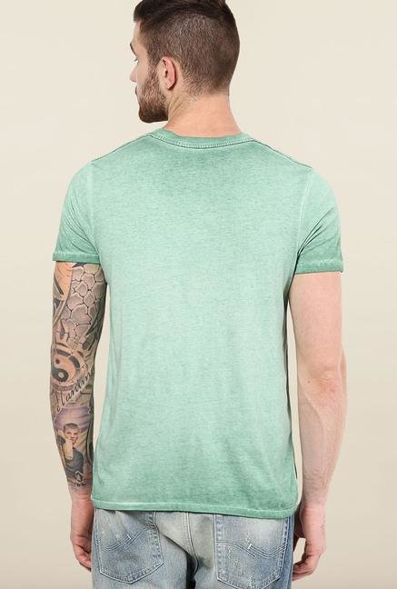 Jack & Jones Green Round Neck T-Shirt
