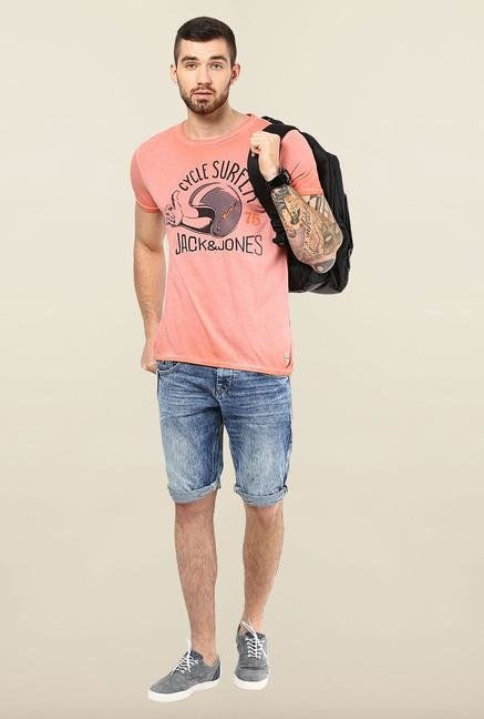 Jack & Jones Pink Printed T-Shirt