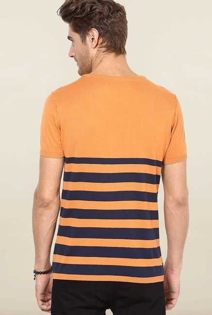 Jack & Jones Orange Striped T-Shirt