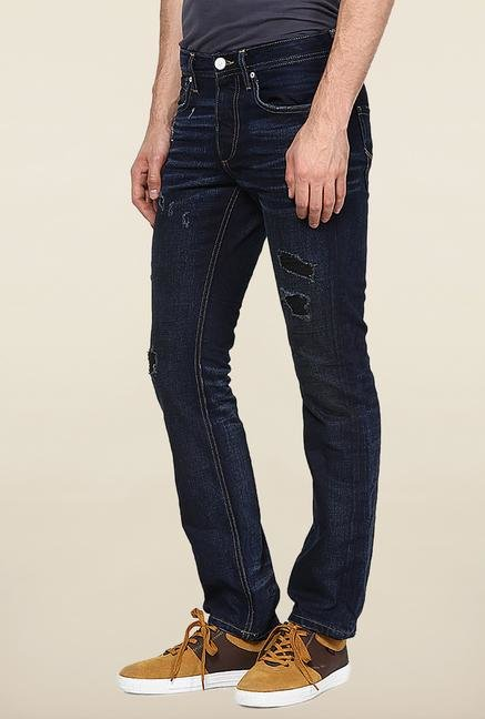 Jack & Jones Blue Rinse Washed Regular Fit Jeans