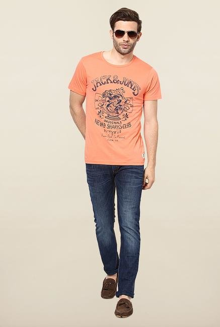 Jack & Jones Salmon Printed T-Shirt