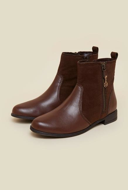 buy la briza brown ankle length chelsea boots at