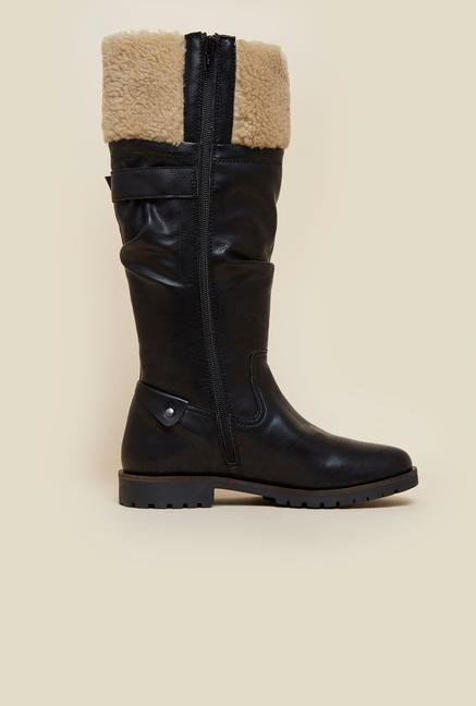 La Briza Black Knee Length Snow Boots