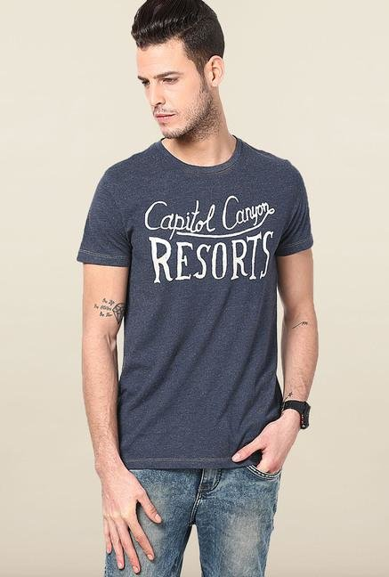 Jack & Jones Navy Crew Neck T-Shirt