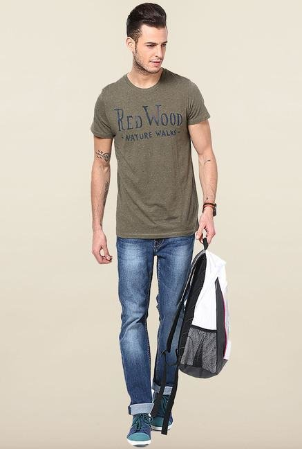 Jack & Jones Olive Printed T-Shirt