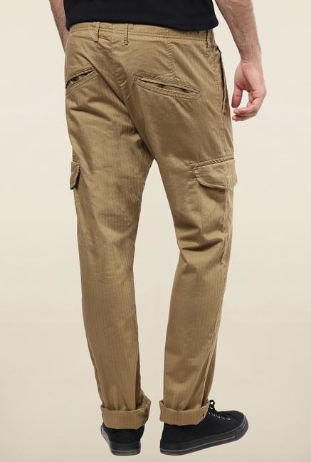 Jack & Jones Beige Cotton Cargo