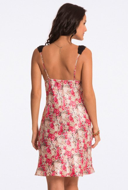 Pretty Secrets Multicolor Floral Print Chemise
