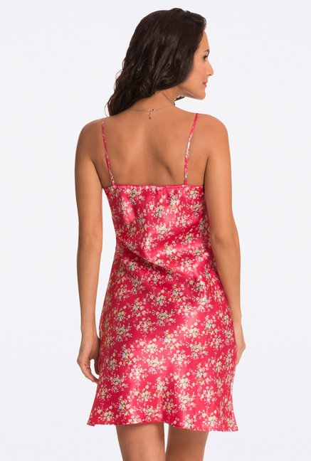 Pretty Secrets Red Floral Print Chemise
