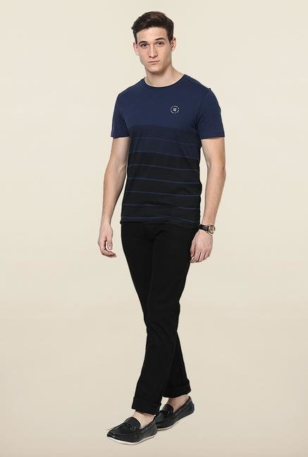 Jack & Jones Navy Striped T-Shirt