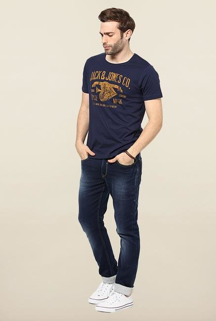 Jack & Jones Navy Round Neck T-Shirt
