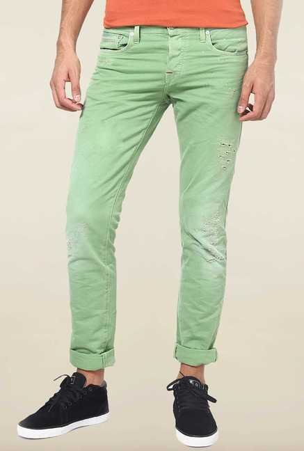 Jack & Jones Green Washed Slim Fit Jeans