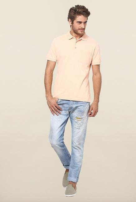Jack & Jones Blue Washed Regular Fit Jeans