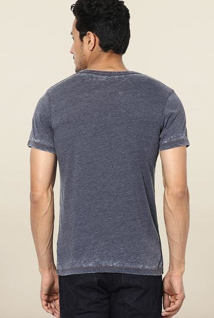 Jack & Jones Grey V-Neck T-Shirt