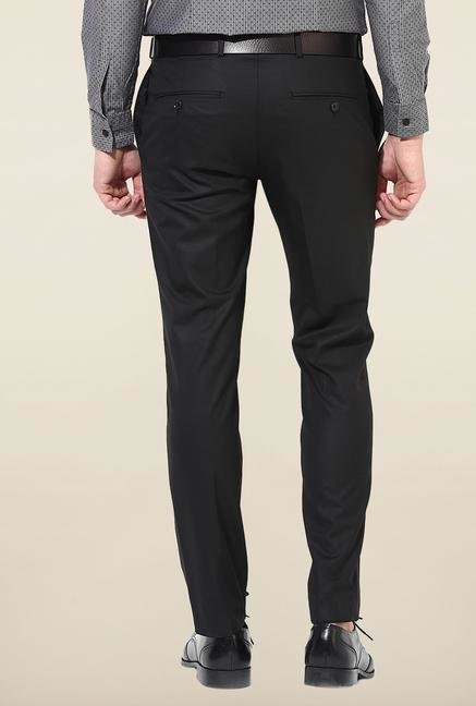 Jack & Jones Black Solid Trouser