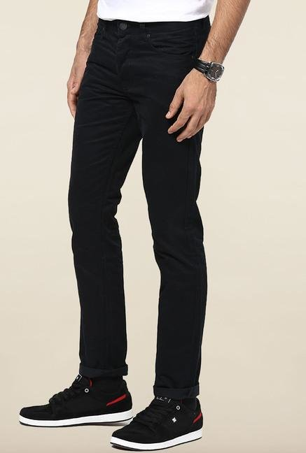 Jack & Jones Black Solid Chinos