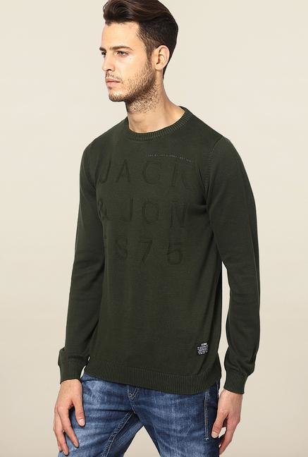 Jack & Jones Green Cotton Sweatshirt