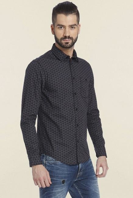Jack & Jones Ebony Printed Casual Shirt