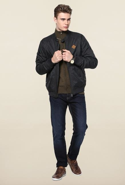 Jack & Jones Black Solid Jacket