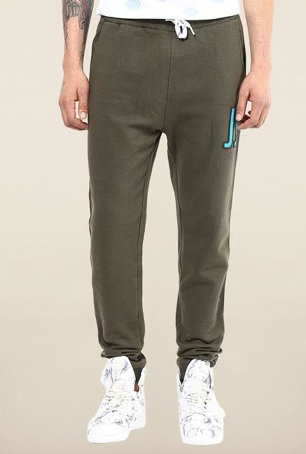 Jack & Jones Green Solid Track Pant