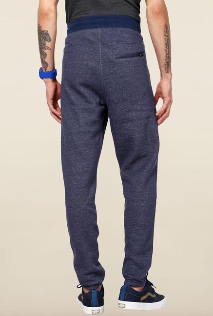 Jack & Jones Blue Solid Track Pant