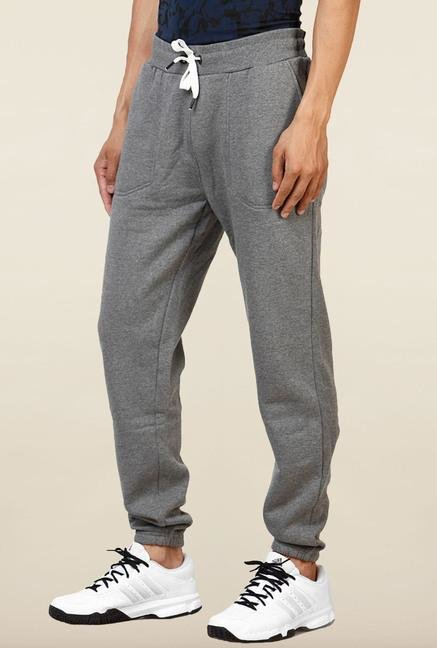 Jack & Jones Grey Solid Track Pant