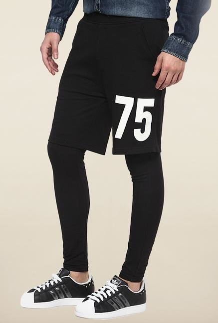 Jack & Jones Black Solid Sweat Pant