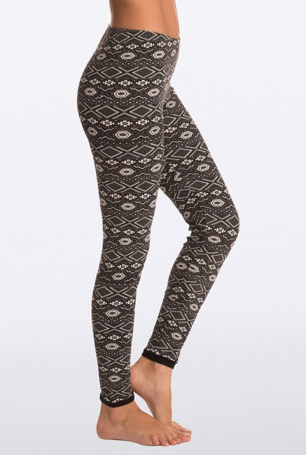 Pretty Secrets Black Forever Aztec Leggings