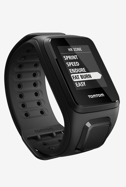TomTom Spark Cardio GPS Fitness Watch (Black, Large)