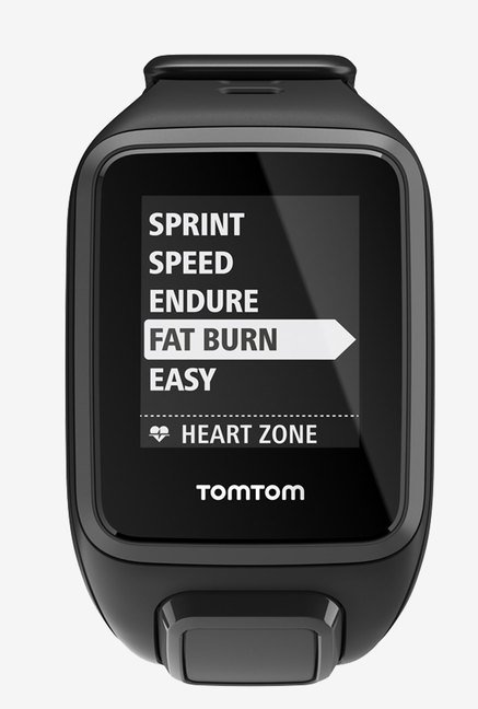 TomTom Spark Cardio GPS Fitness Watch (Black, Small)