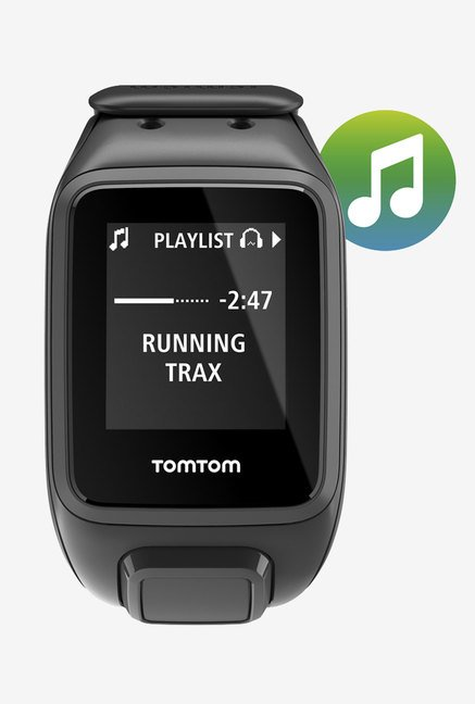 TomTom Spark Music GPS Fitness Watch (Black, Large)